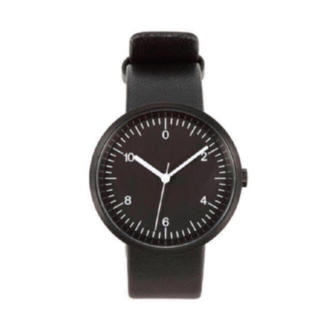 ムジルシリョウヒン(MUJI (無印良品))の【新品】MUJI WRIST WATCH 腕時計・Wall Clock・黒(腕時計(アナログ))