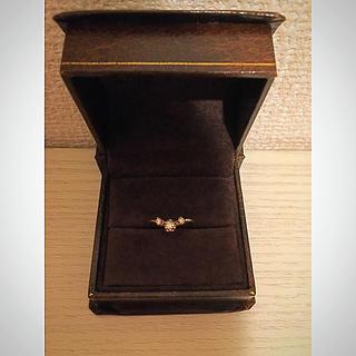 アッシュペーフランス(H.P.FRANCE)の11月末までXmas特別価格💍V字ダイヤモンドリング(リング(指輪))