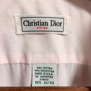 クリスチャンディオール(Christian Dior)のChristian Dior ドレスシャツ ヴィンテージ ライトピンク M(シャツ)