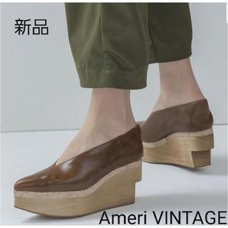 アメリヴィンテージ(Ameri VINTAGE)の新品 Ameri VINTAGE ブラウン サイズ23.5cm~24cm (ハイヒール/パンプス)