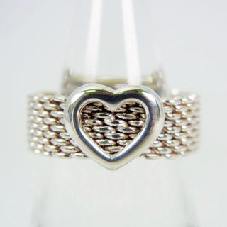 ティファニー(Tiffany & Co.)のティファニー 925 サマセットメッシュ ハートリング 10号[g94-11](リング(指輪))