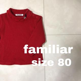 familiar - familiar レッド 長袖シャツ 80