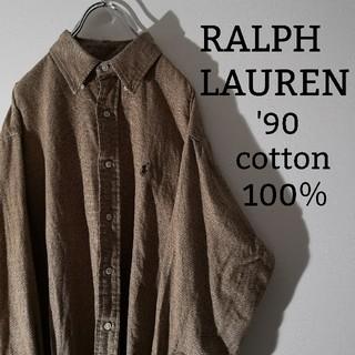 Ralph Lauren - オシャレ感抜群 '90s RALPH LAUREN 100%コットンシャツ