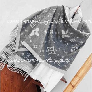 LOUIS VUITTON - メンズ ルイヴィトン 新品 マフラー Louis Vuitton グレー 灰色