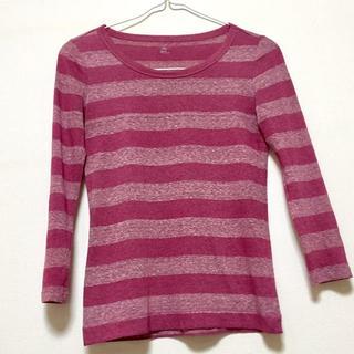 ギャップ(GAP)のGAP ピンク系ボーダー柄 トップス(Tシャツ(長袖/七分))