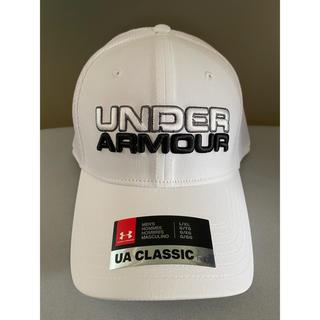 UNDER ARMOUR - アンダーアーマー キャップ 帽子 ホワイト 白 CAP ゴルフ