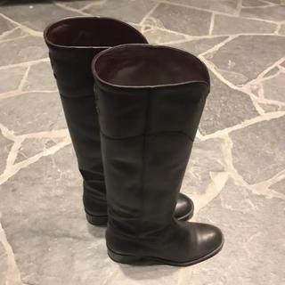 シャネル(CHANEL)のCHANEL シャネル  ロングブーツ 25.5cm 38 1/2(ブーツ)