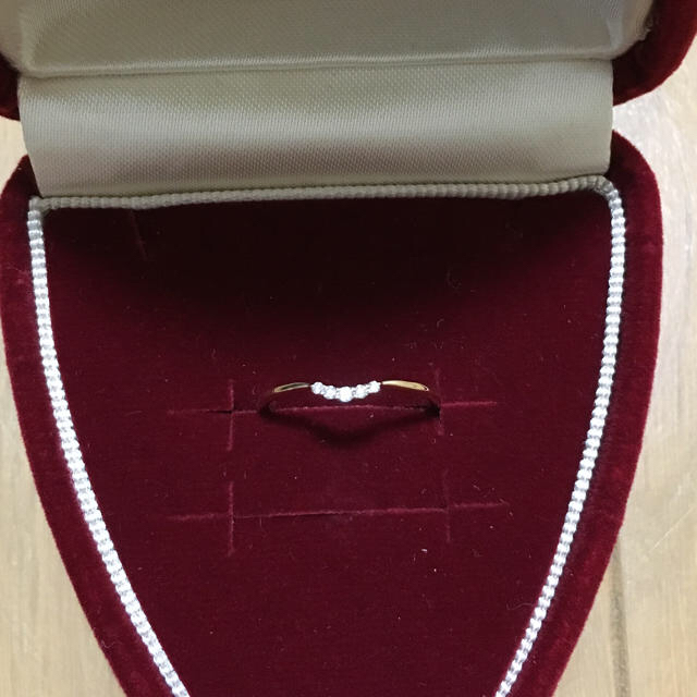 agete(アガット)のagate K10 ダイヤリング 7号 レディースのアクセサリー(リング(指輪))の商品写真