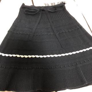 トゥービーシック(TO BE CHIC)のTO BE CHIC ニットスカート(ひざ丈スカート)