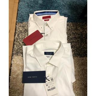 ZARA - 新品2枚セット ZARA ザラ ワイシャツ 白 ボタンダウン