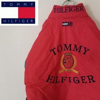 TOMMY HILFIGER - 90S トミーヒルフィガー ナイロンジャケット 中綿 ビックロゴ オーバーサイズ
