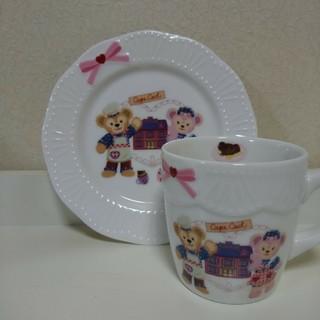 Disney - 新品未使用★ダッフィー&シェリーメイ マグカップ お皿