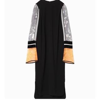 mame - 新品未使用★今季 mame Silk Lame Sleeves Dress