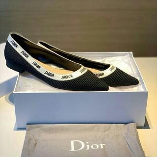 Dior ディオール 大人気 パンプス 刺繍ロゴ レディース ブラック
