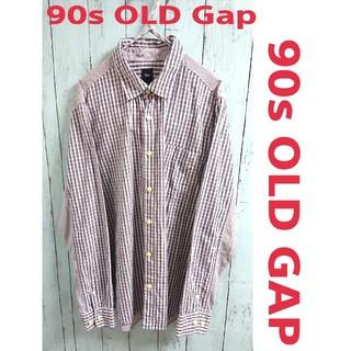 GAP - 90s OLD GAP オールド ギャップ  2パターン 切替 チェックシャツ