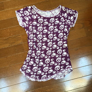 ZARA - 美品 ザラ ZARA スカルプ Tシャツ パープル 紫