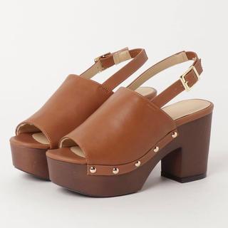 ESPERANZA - 新品 shoes in closet サンダル 茶色 ブランド ヒール パンプス