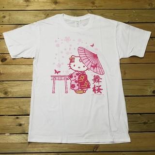 ハローキティ(ハローキティ)のハローキティ プリントTシャツ ホワイトM(Tシャツ(半袖/袖なし))