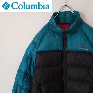 Columbia - ダウン 90% コロンビア ダウンジャケット バイカラー 刺繍ロゴ