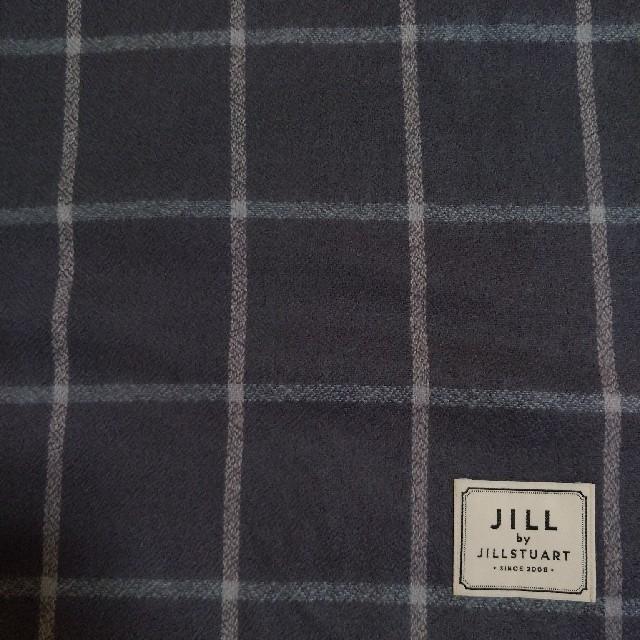 JILL by JILLSTUART(ジルバイジルスチュアート)の【新品】ジルバイジルスチュアート チェックストール フォギーグレー レディースのファッション小物(ストール/パシュミナ)の商品写真
