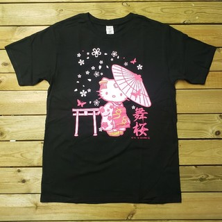 ハローキティ(ハローキティ)のハローキティ プリントTシャツ ブラックM(Tシャツ(半袖/袖なし))