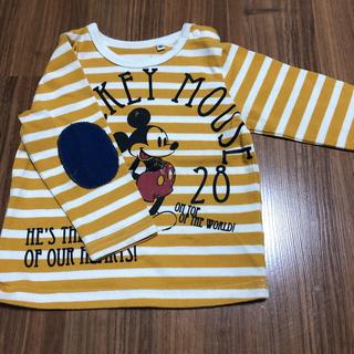 Disney - ミッキーボーダー トレーナーロンT