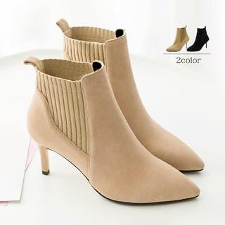 ブーティー レディース ブーツ ショート丈 ファッション靴 ハイヒール  (ブーツ)