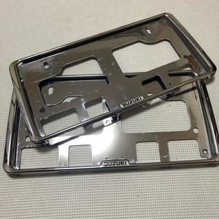 SUZUKI スズキ ナンバーフレーム セット 純正