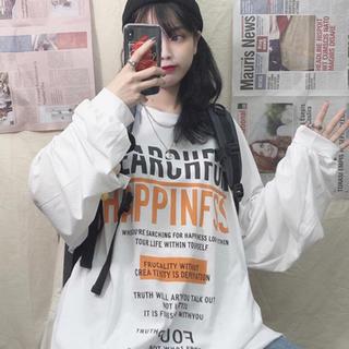 ロゴT 長袖 ロンT ビッグシルエット XL 新品未使用品(Tシャツ(長袖/七分))