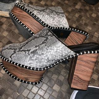 moussy - パイソン ヒール ブーツ
