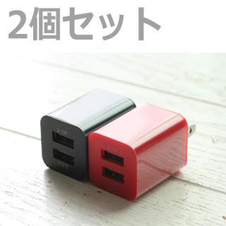 スマホ  USB コンセント 2口充電  充電器 2個セット