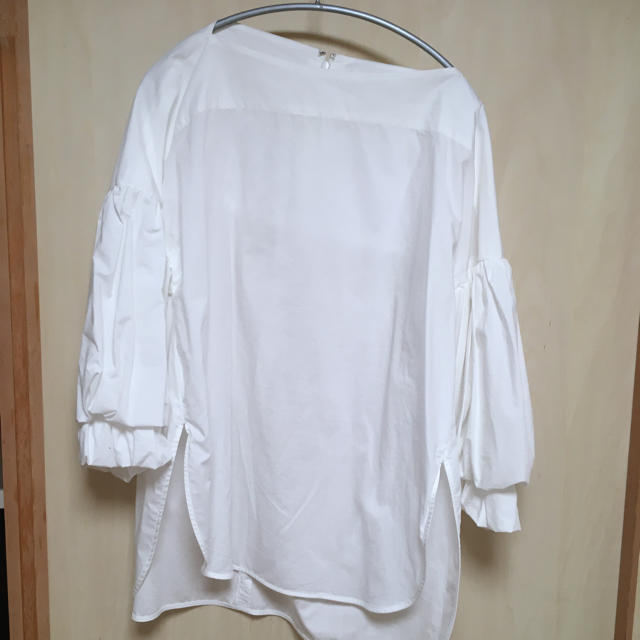 ENFOLD(エンフォルド)のエンフォルド  ENFOLD ソフトタイプライター バルーン ブラウス 白 36 レディースのトップス(シャツ/ブラウス(長袖/七分))の商品写真