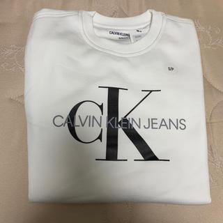 Calvin Klein - 新品【メンズS】★カルバンクライン★人気のロゴプリントトレーナー/白