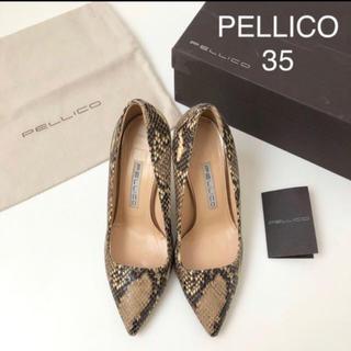 PELLICO - pellico パイソン柄パンプス35サイズ アンドレア