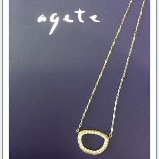 アガット(agete)のagete/K18/ダイヤネックレス/オーバル/サークル(ネックレス)