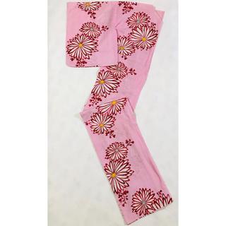 フリフ(ふりふ)のレディース浴衣 ピンク 大人可愛い花柄ゆかた 松田聖子デザイン 洗える フラワー(浴衣)