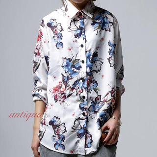 antiqua - アンティカ フラワーシャツ   antiqua