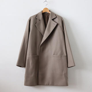 COMOLI - AURALEE  LIGHT MELTON OVER COAT