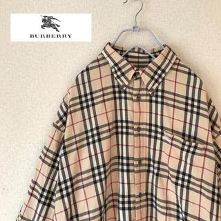 BURBERRY - b4 バーバリー ノバチェック シャツ