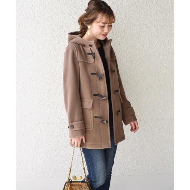 SHIPS(シップス)のSHIPS for woman ダッフルコート モカ レディースのジャケット/アウター(ダッフルコート)の商品写真