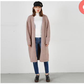 moussy - MOUSSY warmth knitting gown クリーニング済み
