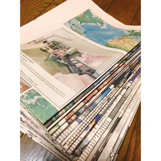 サーモンピンク色  英字新聞 30枚セット