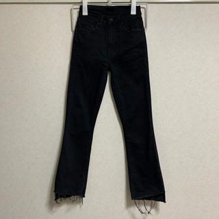 mother - mother INSIDER CROP STEP FRAY フレアパンツ