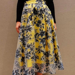 FRAY I.D - フレイ ID  花柄オーガンジースカート  Sサイズ 美品