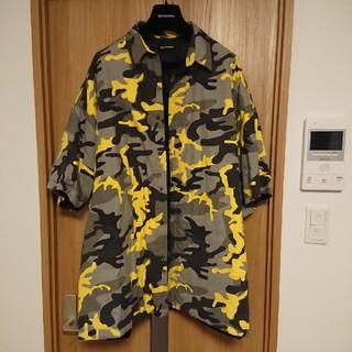 Balenciaga - balenciaga Camouflage print padded shirt