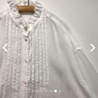 nest Robe - ネストローブ  リネンフリンジカラードレスシャツ