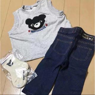 ミキハウス(mikihouse)の新品 MIKIHOUSE お洋服セット 70〜80cm 他(シャツ/カットソー)