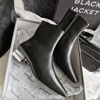 バレンシアガ(Balenciaga)のブラック レディース ブーツ バレンシアガ 未使用 ハイヒール(ブーツ)