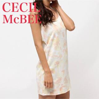 セシルマクビー(CECIL McBEE)のCECIL McBEE/ボカシ花柄タンクワンピ(ミニワンピース)