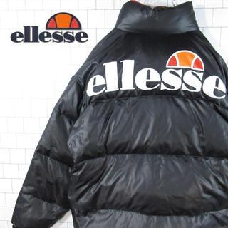 ellesse - 【バックデカロゴ】激レア エレッセ ワンポイント 刺繍ロゴ ダウンジャケット